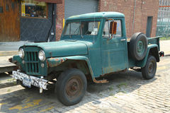 1953 Willys Jeep Truck in Brooklyn Stock Afbeelding