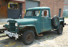1953 Willys Jeep Truck in Brooklyn Royalty Free Stock Photo
