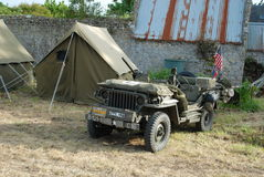 Willys MB-jeep 8 Arkivfoto