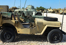 Willys MB , U.S. Army Truck, 1/4 ton, 4x4 or Ford GPW. Latrun, Israel. LATRUN, ISRAEL - OCTOBER 14, 2015: Willys MB or U.S. Army Truck and  Ford GPW are four Stock Photos