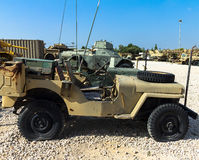 Willys MB , U.S. Army Truck, 1/4 ton, 4x4 or Ford GPW. Latrun, Israel. LATRUN, ISRAEL - OCTOBER 14, 2015: Willys MB or U.S. Army Truck and  Ford GPW are four Royalty Free Stock Images
