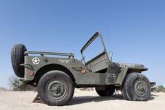 Willysjeep bij het Automuseum van Emiraten Stock Foto