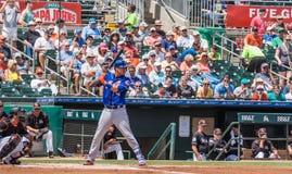 Wilmer Flores New York Mets 2017 am Schläger stockbild
