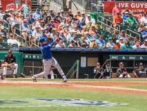 Wilmer Flores-Schlagen New York Mets 2017 lizenzfreie stockfotos