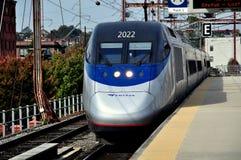 Wilmington, De : Train d'AMTRAK Acela Photographie stock