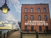 Wilmington del centro, NC, Riverwalk immagine stock libera da diritti