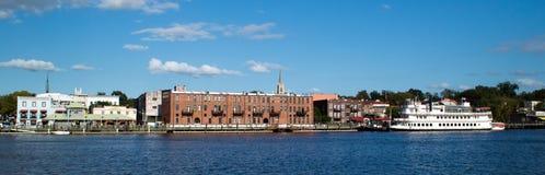 Wilmington, NC ΗΠΑ 24.2014 του Αυγούστου: Στο κέντρο της πόλης Wilmington, βόρεια Καρολίνα Στοκ Εικόνες