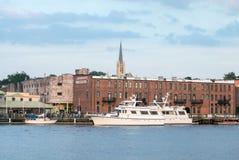 Wilmington, NC EUA baixa histórica do julho de 2014 Foto de Stock