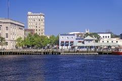 Wilmington NC, horisont royaltyfria bilder