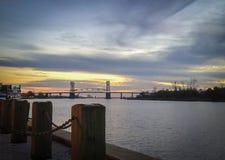 Wilmington, NC, lungofiume Fotografie Stock