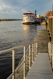 Wilmington NC nabrzeże i rzeczny spacer, przylądka strachu rzeka Fotografia Royalty Free