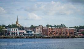 Wilmington, NC, nadbrzeże rzeki obraz stock
