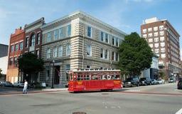 Wilmington, NC usa Aug 17,2014 tramwaj W Wilmington, Pólnocna Karolina zdjęcia stock