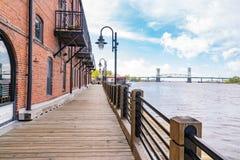 Wilmington, Nord-Carolina Riverwalk stockbilder