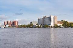 Wilmington, Nord-Carolina Skyline lizenzfreies stockbild
