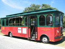 Wilmington trolley bus. Royalty Free Stock Image