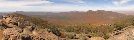 Wilpena pound, Flinders ranges, south australia Royalty Free Stock Image