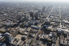 Wilshire Blvd Los Angeles Summer Smog Stock Image