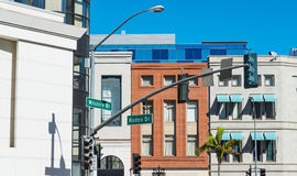 Wilshire blvd and Rodeo drive crossroad Stock Photo