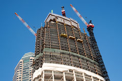 Wilshire Grand Tower construction in Los Angeles Stock Photos