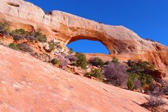 Wilson arch, moab ut. Royalty Free Stock Image