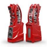 Wilson Audio WAMM Master Chronosonic in Imola Red Finish Royalty Free Stock Photo