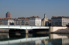 Wilson bridge over the Rhone river Stock Photo