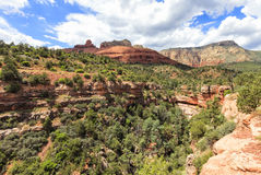 Wilson Canyon trail at Sedona, Arizona. Wilson Canyon Trail at Grasshopper point area in Sedona. Sedona is an Arizona desert town near Flagstaff that's royalty free stock photo