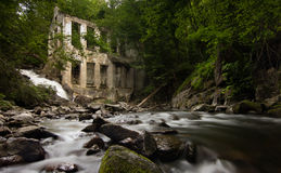 Wilson Carbide Mill and Waterfall Royalty Free Stock Images