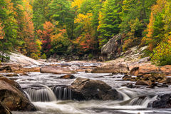 Wilson Creek Autumn. Autumn in the Blue Ridge Mountains has arrived. This is the maytag rapid on Wilson Creek near Morganton, North Carolina Stock Photography