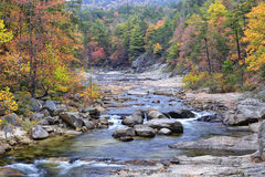 Wilson Creek Gorge. Autumn colors along Wilson Creek, located in the Wilson Creek Gorge near Lenoir, North Carolina Stock Image