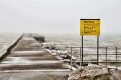 Wilson Harbor en hiver Photo stock