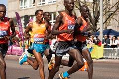 Wilson Kipsang. Group winner London Marathon 2014 Kenyan Royalty Free Stock Photography