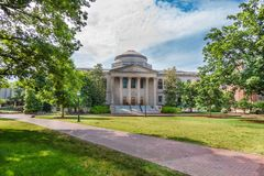 Wilson Library at UNC-Chapel Hill. Wilson Library at the University of North Carolina on May 19, 2015 at Chapel Hill in Chapel Hill, North Carolina.  Built in Royalty Free Stock Photography