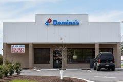 Domino`s location entrance stock photos