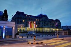 Wilson pałac, Genewa, Szwajcaria Obrazy Stock
