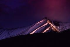 Wilson Peak Glows di Colorado del tellururo con alba leggera di prima mattina Immagini Stock