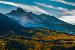 Wilson Peak i nedgången, Uncompahgre nationalskog, Colorado, Royaltyfria Foton