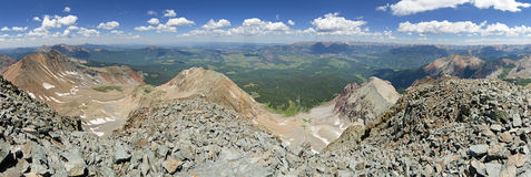 Wilson Peak Summit Panorama Royalty Free Stock Image