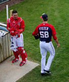 Wilson Ramos and Doug Fister Royalty Free Stock Images