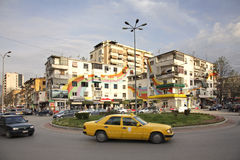 Wilson square in Tirana. Albania Stock Images