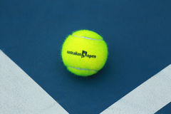 Wilson tennis ball with Australian Open logo on tennis court Stock Photography