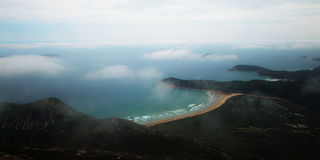 Wilsons Prom look down. Sky, beach of Wilsons Promontory National Park Stock Photo