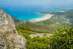 Wilsons prom overweldigende stranden en bossen in Australië royalty-vrije stock afbeelding
