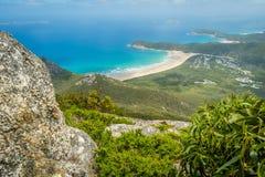 Wilsons prom overweldigende stranden en bossen in Australië stock afbeelding