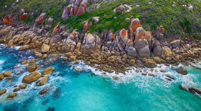 Wilsons Promontory famous beach, Victoria from the air, Australi Royalty Free Stock Photo