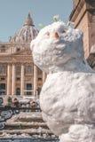 Wilt u een Sneeuwman bouwen royalty-vrije stock fotografie