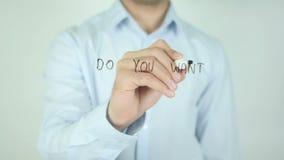 Wilt u Meer Verkoop? , Schrijvend op het Transparante Scherm stock video