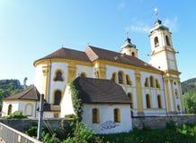 Wilten Abbey Basilica, la iglesia rococó hermosa en Innsbruck Imagen de archivo libre de regalías