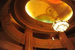 Wiltern Lantern. Interior shot of the famous Wiltern in Los Angeles Stock Photography